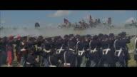 MS, REENACTMENT American civil war battle