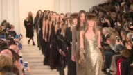 American design royalty Ralph Lauren headlined the last day of New York Fashion Week on Thursday with brown and gray elegance in cashmere and...