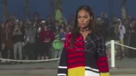 American fashion designer Tommy Hilfiger unveils his spring/summer 2017 collection on the Venice Beach Promenade in Los Angeles away from the New...