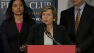 American Federation of Teachers President Randi Weingarten speaks at a press conference hosted by the Southern Poverty Law Center at the National...