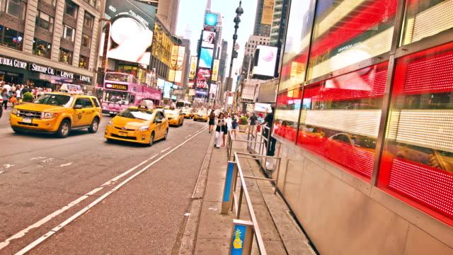 Amerikanska flaggan vid Times Square