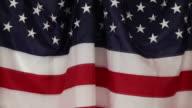 American flag draped on backdrop - ZO