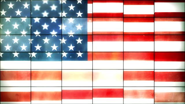 American Flag - Grid Panel Loop (Full HD)