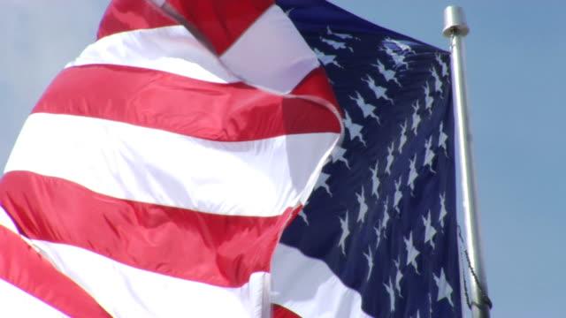 American Flag II waving in wind