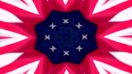 American Flag Kaleidoscope Background