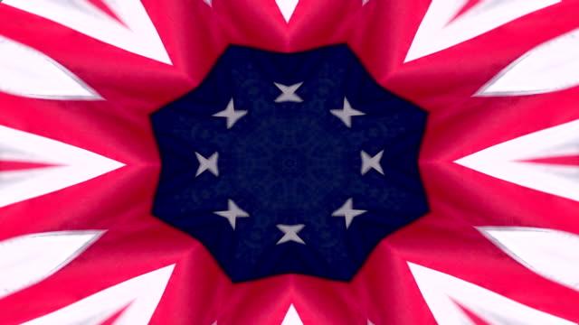 American Flag Kaleidoscope Background