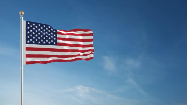 4 K amerikanische Flagge-Endlos wiederholbar