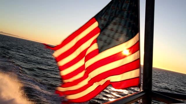 American Flag on boat 02