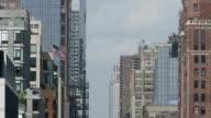 American Flag on NYC buildings