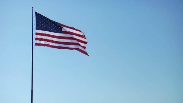 American Flag Slow-Motion Wide Shot