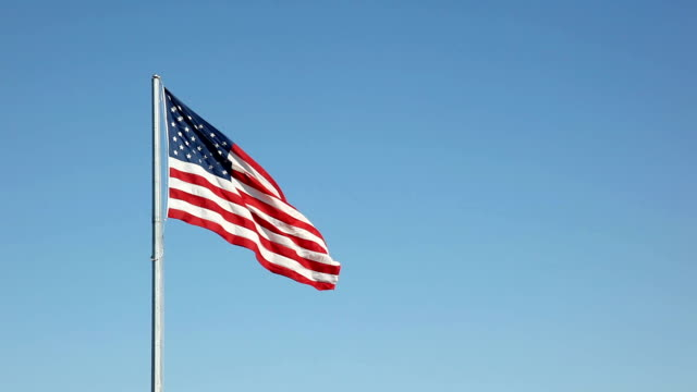 American Flag Stars and Stripes in the Breeze | Video