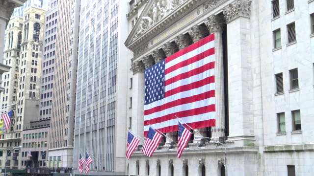 American Flag, Wall Street, New York City