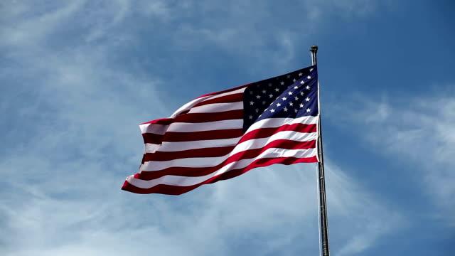 Amerikanische Flagge winken im Wind