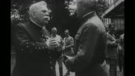 American General John J Pershing chats with Field Marshal Joseph Joffre