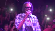 American hip hop singer Snoop Doggy Dogg aka Snoop Lion performing and smoking pot in Cannes at the Gotha Club Cannes France on Thursday May 23 2013