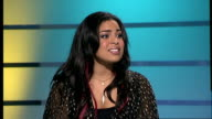'American Idol ' winner UK chart success Jordin Sparks interview SOT On loving London / Don't apologise for the weather it's very nice