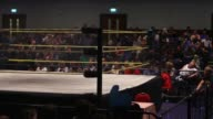 American style professional wrestling ring