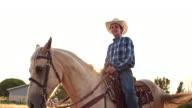 American young cowboy farmer