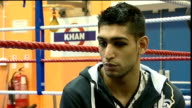 Amir Khan interview after Barrera fight ENGLAND Lancashire Bolton INT Amir Khan interview SOT Talks about Juan Manuel Marquez and fact he might be...