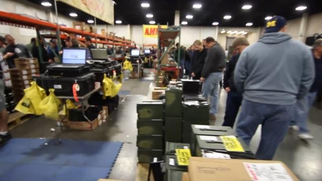 Ammunition Display Rocky Mountain Gun Show on January 08 2013 in Sandy Utah
