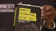 Amnesty International reveals its annual report on human rights abuses