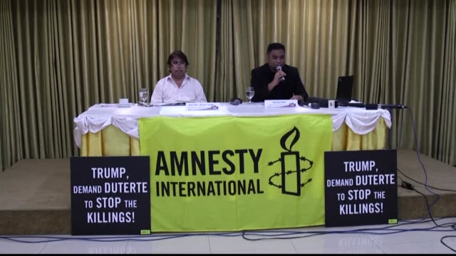 Amnesty International urged US President Donald Trump to call out his host President Rodrigo Duterte over the Philippine government's deadly drug war...
