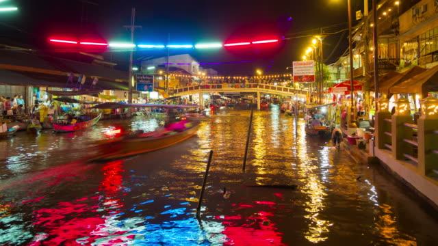 SAMUT SONGKHRAM, THAILAND - Ampahwa floating market