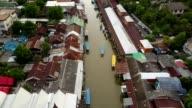 Amphawa flytande marknaden i Thailand