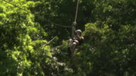 amputee on a zip line