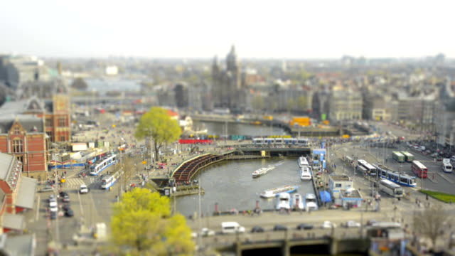 Amsterdam Central Station tilt shift time lapse