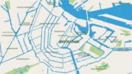 Amsterdam  Map Animation 4K