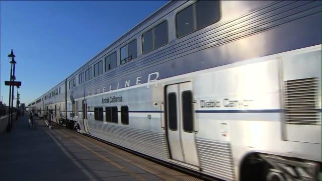Amtrak Trains on September 25 2013 in Glendale California