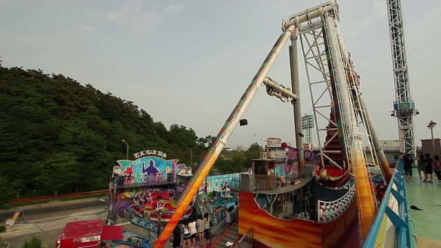 MS Amusement Park Ride and Viking in Wolmido Theme Park / Incheon, South Korea