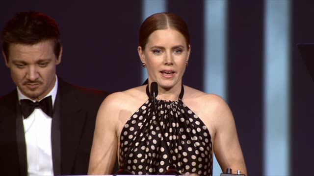 SPEECH Amy Adams at the 25th Annual Palm Springs International Film Festival Awards Gala Presented By Cartier in Palm Springs CA on 1/04/14