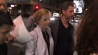 Amy Adams Darren Le Gallo outside Hamilton Opening Night at Pantages Theatre in Hollywood in Celebrity Sightings in Los Angeles