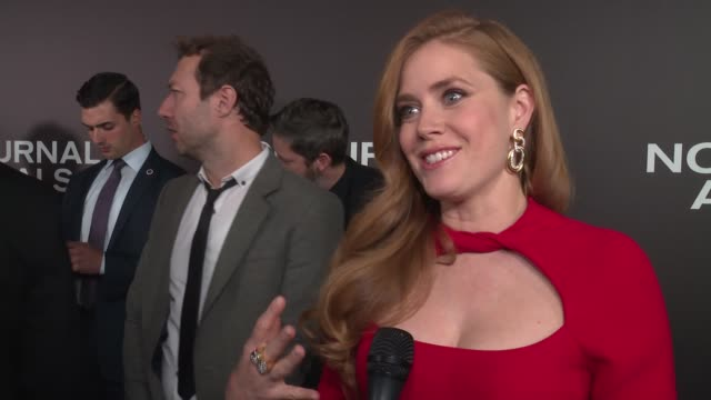 INTERVIEW – Amy Adams on being overwhelmed with the story within the story on how Tom pulled her into the story on being a realist whereas her...