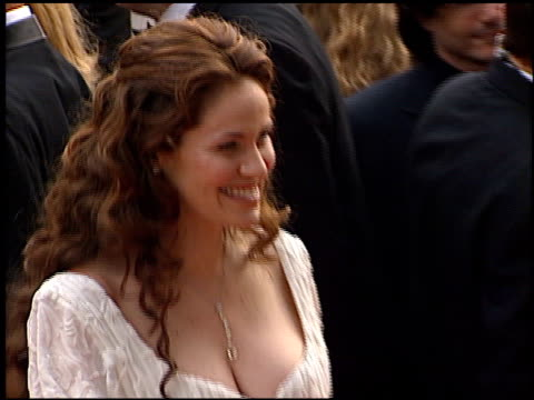Amy Brenneman at the 2001 Golden Globe Awards at the Beverly Hilton in Beverly Hills California on January 21 2001