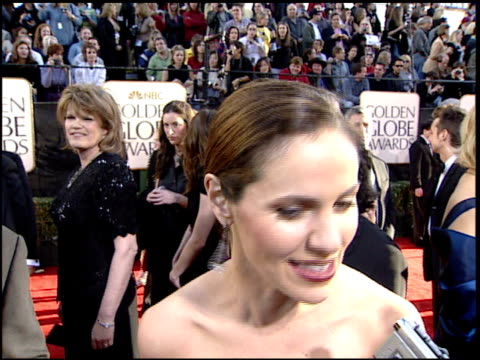 Amy Brenneman at the 2002 Golden Globe Awards at the Beverly Hilton in Beverly Hills California on January 20 2002