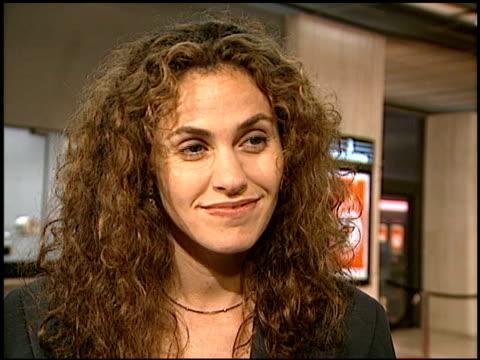 Amy Brenneman at the Vertigo Premiere at Century Plaza Cinema in Century City California on October 14 1996