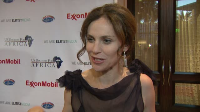 Amy Brenneman on what the evening represents what it means to her personally something she learned while meeting the First Ladies of Africa at the US...
