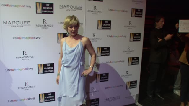 Amy Carlson at The Creative Coalition's Spotlight Awards Dinner Gala at Marquee on October 14 2014 in New York City