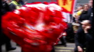 Amy Chua's book 'Battle Hymn of the Tiger Mother' causes storm of controversy Soho Chinatown EXT Red lanterns at Chinese New Year celebrations man...