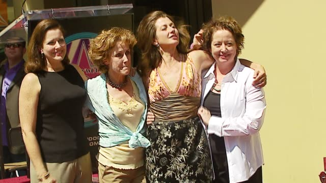 Amy Grant and sisters at the Amy Grant Hollywood Walk of Fame Star at Hollywood Boulevard in Hollywood California on September 19 2006