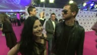 Amy Lee and Tim McCord on being at the awards being backstage MTV being an inspiration at the MTV Europe Music Awards 2011 Arrivals at Belfast...