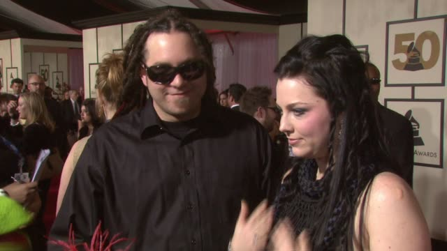 Amy Lee at the 50th Annual GRAMMY Awards at Los Angeles California