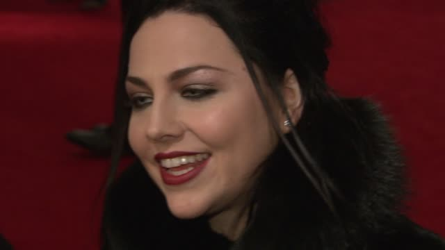 Amy Lee on what brings her out tonight being a huge fan of Johnny Depp and Tim Burton and her favorite film of theirs about what she is working on...