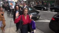 Amy Robach leaving the Good Morning America show in Celebrity Sightings in New York