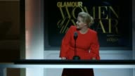 SPEECH Amy Schumer addresses the crowd as the host of the ceremony at Glamour Magazine's 25th Annual Women Of The Year Awards at Carnegie Hall on...