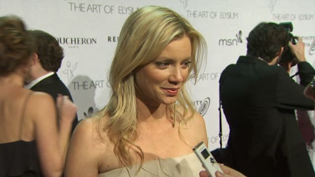 Amy Smart at the The Art of Elysium's 3rd Annual Black Tie Charity Gala 'Heaven' at Beverly Hills CA