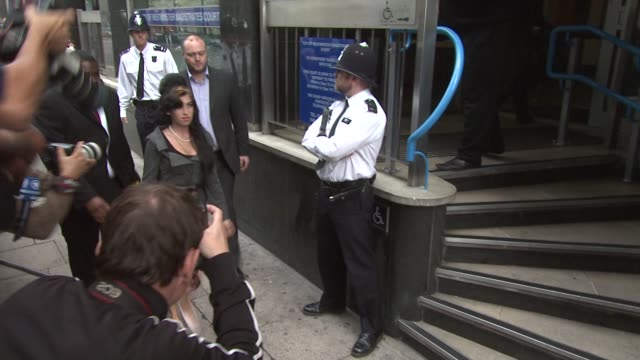 Amy Winehouse at the Amy Winehouse Attends Court on Charges of Assault at London England